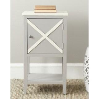Safavieh Ward Grey/ White Storage Side Table