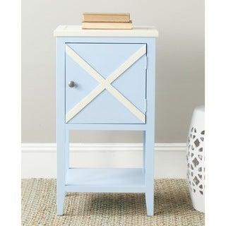 Safavieh Ward Light Blue/ White Storage Side Table