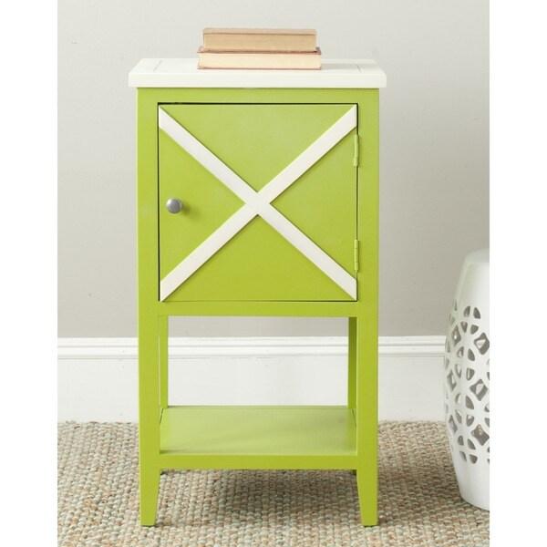 Safavieh Ward Lime Green/ White Storage Side Table