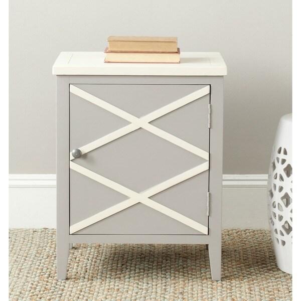Safavieh Bernardo Grey/ White Storage Side Cabinet