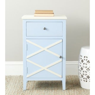Safavieh Alan Light Blue/ White End Table