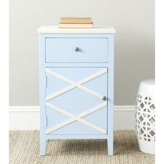 Safavieh Alan Light Blue/ White End Table