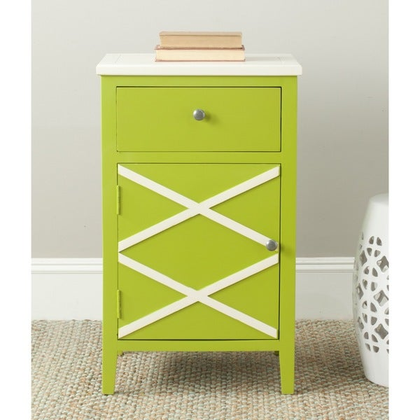 Safavieh Alan Lime Green/ White End Table