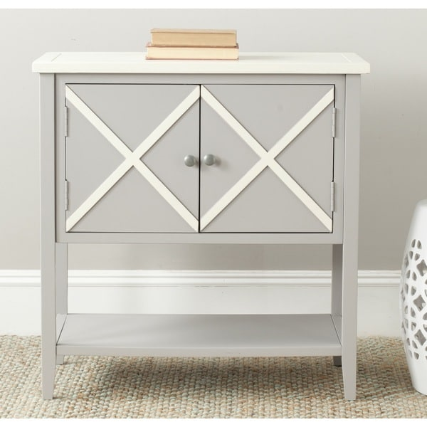 Safavieh Polly Grey/ White Storage Sideboard