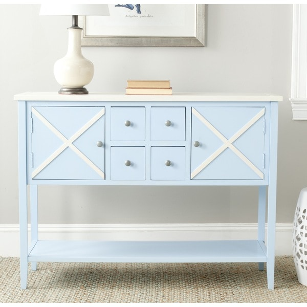 Safavieh Adrienne Light Blue/ White Storage Sideboard
