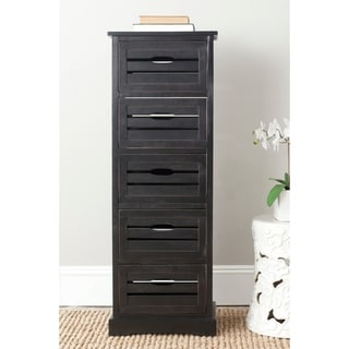 Safavieh Sarina Black 5-drawer Cabinet