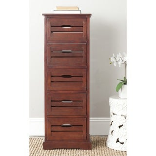 Safavieh Sarina Cherry Storage 5-Drawer Cabinet