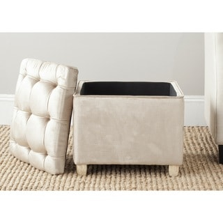 Safavieh Joanie Antique Sage Linen Blend Ottoman