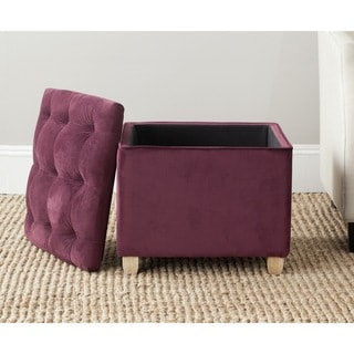Safavieh Joanie Bordeaux Cotton Ottoman