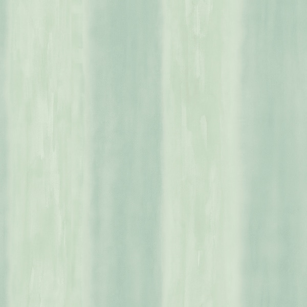 Brewster Sea Green Watercolor Stripe Wallpaper