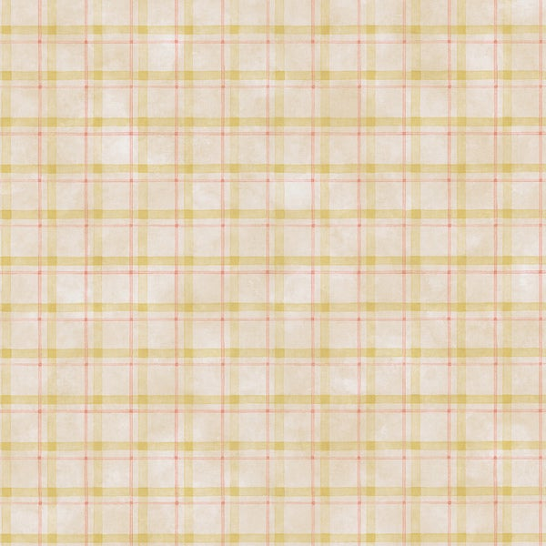 Brewster Beige Plaid Wallpaper