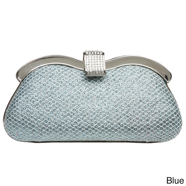 J. Furmani Glitter Fabric Hardcase Clutch