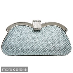 J Furmani Glitter Fabric Hardcase Clutch
