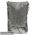 J Furmani Metal Mesh and Rhinestone Cell Phone Bag