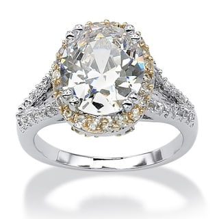 Ultimate CZ Silver Overlay Cubic Zirconia Ring