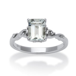 PalmBeach Emerald-Cut Aquamarine Ring