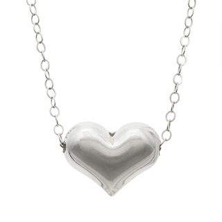 Charming Life Sterling Silver 'Through My Heart' Charm Necklace