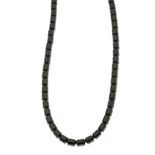 Charming Life Sterling Silver 'Cool Black' Hematite Unisex Necklace