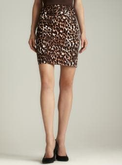Grace Banded Waist Animal Print Skirt