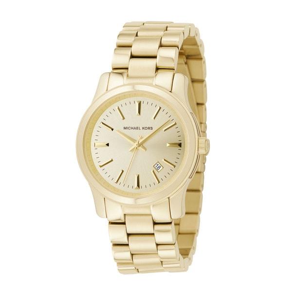 Michael Kors Women's MK5160 'Runaway' Gold Stainless Steel Watch