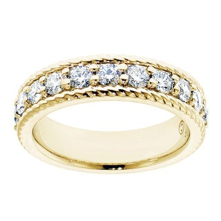 14k Yellow Gold 1 1/10ct TDW Diamond Anniversary Band (F-G, SI1-SI2)