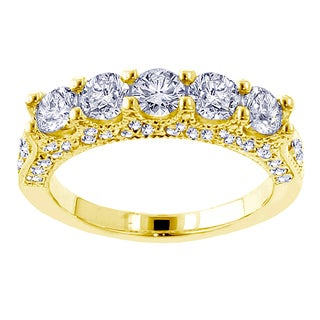 14k Yellow Gold 2 1/2ct TDW Diamond Wedding Band (F-G, SI1-SI2)