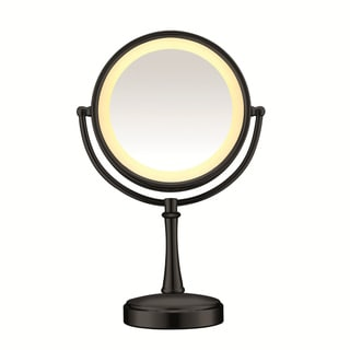 Conair Touch Control Black Matte Double Sided Mirror