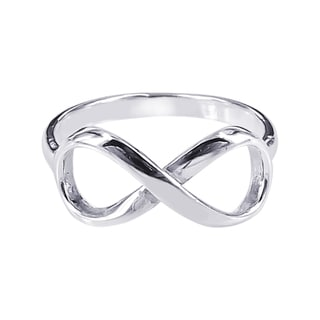 Sterling Silver Endless Love Infinity Symbol Ring (Thailand)
