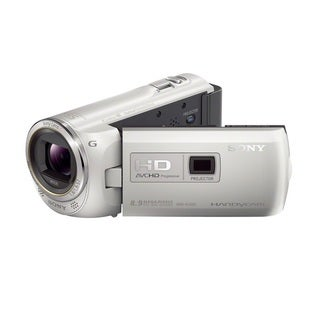 Sony 16GB HDR-PJ380 60p HD Handycam White Camcorder with Projector