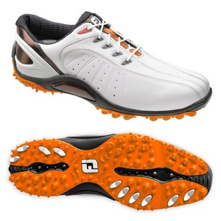 Footjoy Mens Fj Sport Spikeless White Orange Golf Shoes