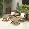 Portfolio Surina Hills Brown Wicker Resin Rattan 5-Piece Outdoor Set