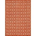Hand-tufted Logan Tangerine Wool Rug (3'6 x 5'6)
