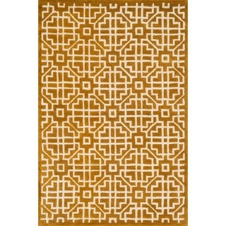 Hand-tufted Logan Gold Wool Rug (7'10 x 11'0)