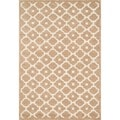 Hand-tufted Logan Beige Wool Rug (3'6 x 5'6)