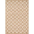 Hand-tufted Logan Beige Wool Rug (7'10 x 11'0)