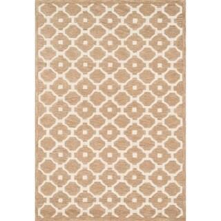 Hand-tufted Logan Beige Wool Rug (7'10 x 11'0)