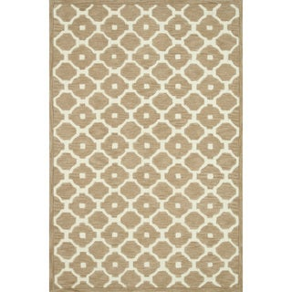 Hand-tufted Logan Beige Wool Rug (9'3 x 13')