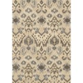 Hand-tufted Arianna Cream/ Grey Wool Rug (7'10 x 11'0)
