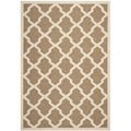 Safavieh Indoor/ Outdoor Courtyard Brown/ Bone Rug (6'7 x 9'6)