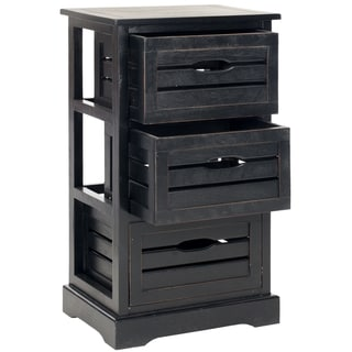 Safavieh Samara Black 3-Drawer Cabinet
