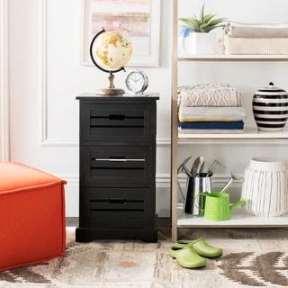 Safavieh Samara Black Storage 3-Drawer Cabinet