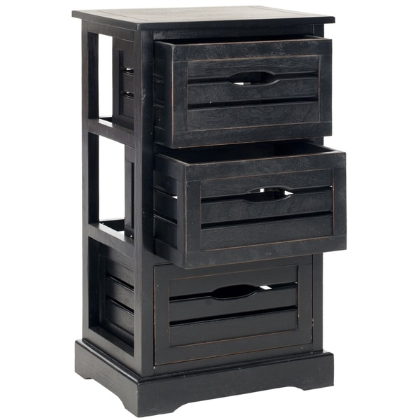 Safavieh Samara Black Storage 3-Drawer Cabinet
