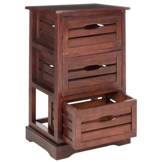 Safavieh Samara Cherry Storage 3-Drawer Cabinet