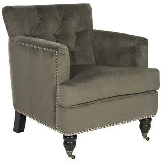 Safavieh Colin Graphite Cotton Tufted Club Chair