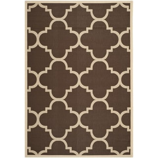 Safavieh Indoor/ Outdoor Courtyard Dark Brown Rug (4' x 5'7)