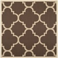 Safavieh Indoor/ Outdoor Courtyard Dark Brown Rug (6'7 Square)