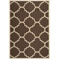 Safavieh Indoor/ Outdoor Courtyard Dark Brown Rug (8' x 11')