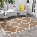 Safavieh Indoor/ Outdoor Courtyard Brown Rug (5'3 x 7'7)