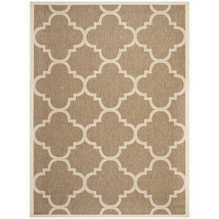 Safavieh Indoor/ Outdoor Courtyard Brown Rug (9' x 12')