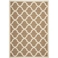 Contemporary Safavieh Indoor/ Outdoor Courtyard Brown/ Bone Rug (4' x 5'7)